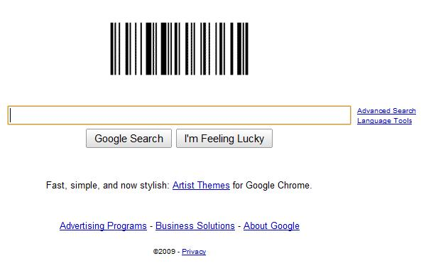 google barcode logo. Google#39;s logo today is a