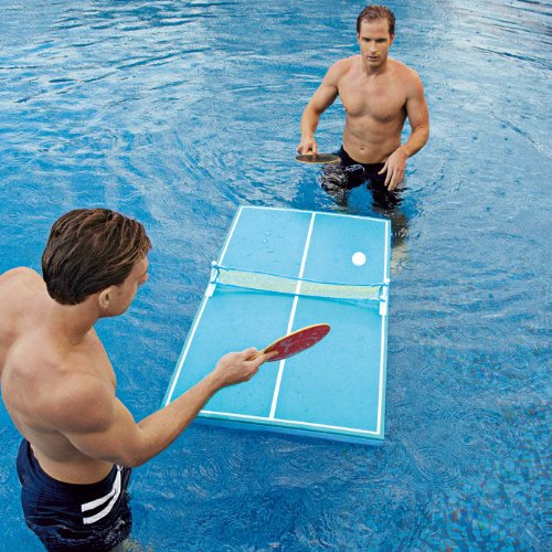 Floating Pool Ping Pong Table InventedYou - Billiards ping pong table