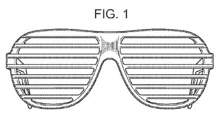 Kanye West Shutter Shade Glasses US design patent D590868